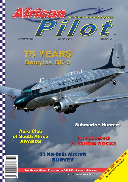 African Pilot magazine December 2010 DC-3 75th anniversary