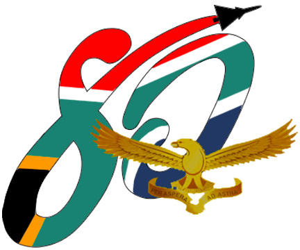 DC-3 C-47 Dakota and South African Air Force SAAF 80 Years emblem logo
