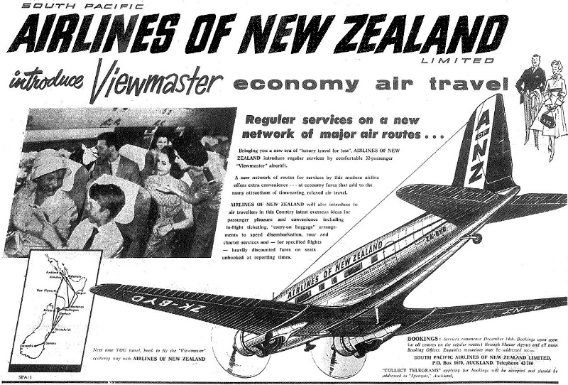 SPANZ South Pacific Airlines of New Zealand