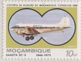 Stamp DC-3 Mozambique