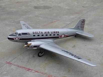 RC Model ESM W008A DC-3 Delta Air Lines